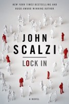 Book cover: Lock in - John Scalzi (red and white figurines on a white background)