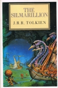 Book Cover: The Silmarillion - JRR Tolkien (the swan ships of Alqualonde at anchor in Valinor)