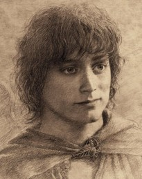 Frodo - drawing by Alan Lee, based on Elijah Wood