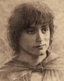 Frodo - drawing by Alan Lee, based on Elijah Wood