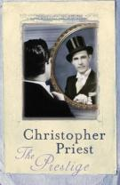 Book cover: The Prestige - Christopher Priest (a dapper man stares at his reflection - unlike him it is wearing a top hat. Nice trick eh)