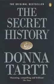 Book cover: The Secret History - Donna Tartt (text treatment plus seal of a stag)