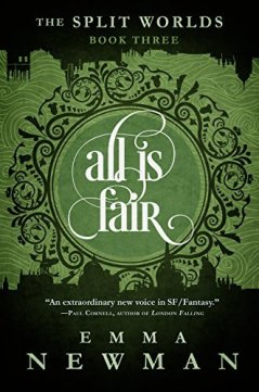 Book cover: All Is Fair - Emma Newman (text treatment)