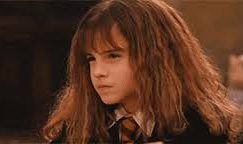 Hermione glaring off-screen