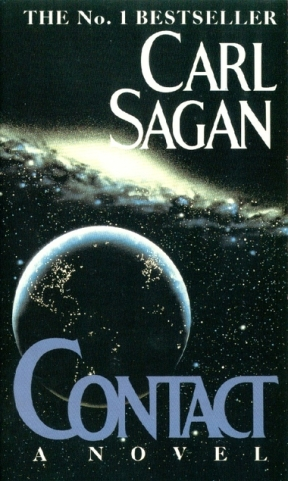 Book cover: Contact - Carl Sagan
