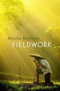 Book cover: Fieldwork - Mischa Berlinski (a man in a conical straw hat kneels at a grave)