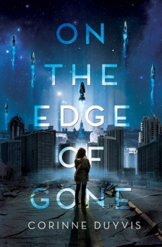 Book cover: On the Edge of Gone - Corinne Duyvis (a girl on a night-time street)