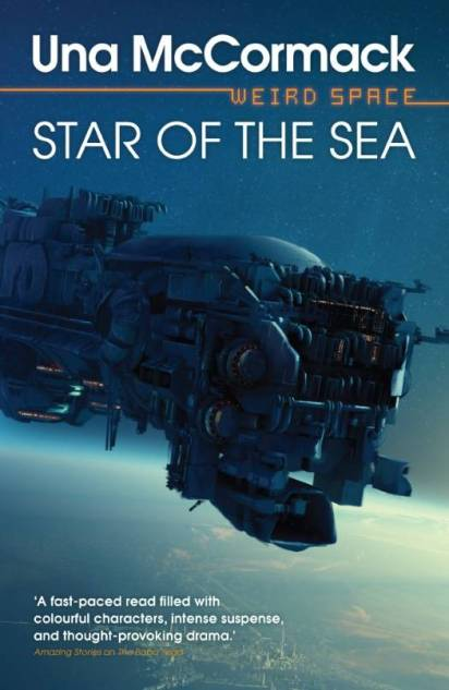Book cover: Star of the Sea - Una McCormack (a space ship in flight)