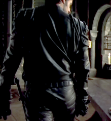 Richard Armitage in leather