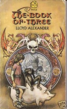 Book cover: The Book of Three - Lloyd Alexander (Armada Lions edition)