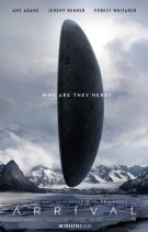Movie poster: Arrival (Amy Adams, Jeremy Renner, Forrest Whitaker)