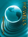 Book cover: The War of the Worlds - H G Wells (a turquoise image of Earth against a rippled background)