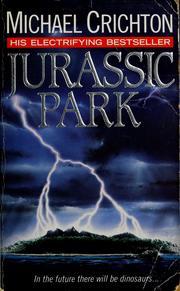 Book cover: Jurassic Park - Michael Crichton (lightning hits an island)
