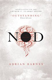 Book cover: Nod - Adrian Barnes (a bloodshot eyeball on a field of off white)