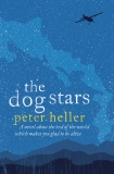 Book cover: The Dog Stars - Peter Heller (a silhouette of a plan against the night sky over mountains)