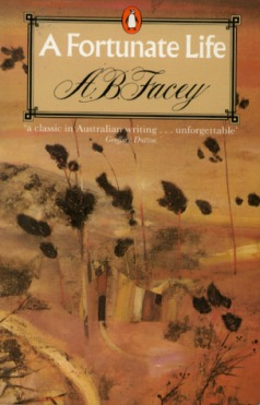 Book cover: A Fortunate Life - A B Facey (a painting of the Australian bush)