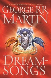 Book cover: Dreamsongs - George R R Martin (fictional coat of arms, with a red and black dragon)