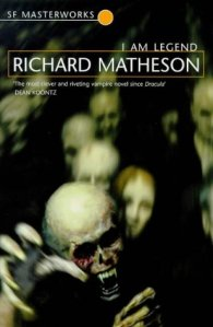 Book cover: I Am Legend - Richard Matheson (pale spectral faces loom out at you with reaching claws)