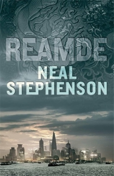 Book cover: Reamde - Neal Stephenson (a city skyline under a textured sky)