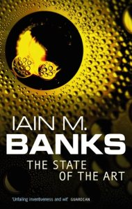 Book cover: The State of the Art - Iain M Banks (abstract yellow textured surfaces)