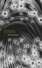 Book cover: Annihilation - Jeff Vandermeer (patterned hardcover, white flowers or spores on a grey background)