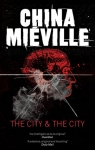 Book cover: The City and the City - China Mieville (a silhouette of a head behind glass fractured by a gunshot)