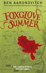 Book cover: Foxglove Summer - Ben Aaronovitch (blood smearing across a map of the English countryside)