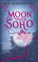 Book cover: Moon Over Soho - Ben Aaronovitch (illustrated map of London)