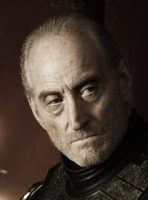 Charles Dance as Tywin Lannister, with his best grumpy face on