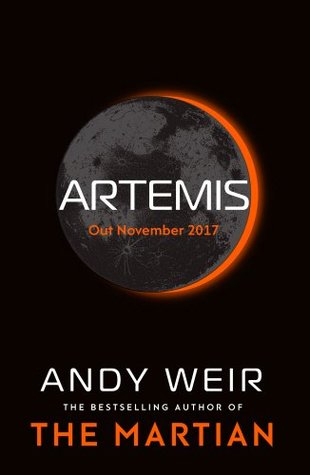 Book cover: Artemis - Andy Weir (the moon eclipsing the sun)