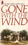 Book cover: Gone with the Wind - Margaret Mitchell a woman in white running out of a plantation house
