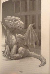 Lumpy the dragon (illustration)