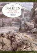 Book cover: The Lord of the Rings - J R R Tolkien (Alan Lee illustrated anniversary edition - Frodo, Sam and Gollum before the Black Gates)