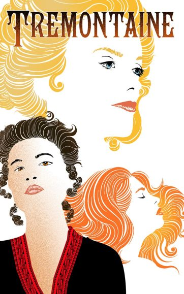 Colour sketch of a blonde, a brunette and a redhead