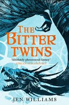 Book cover: The Bitter Twins - Jen Williams (a dragon winding about the book title)