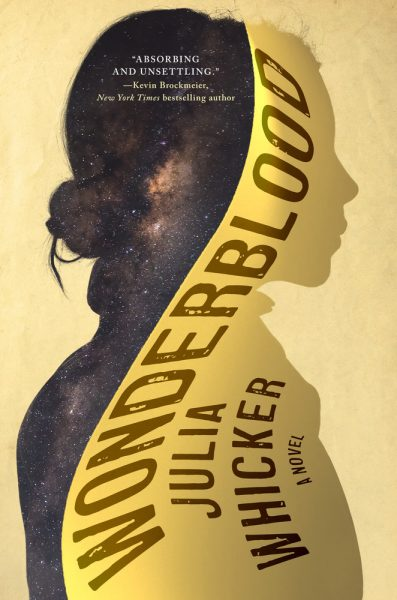 Book cover: Wonderblood - Julia Whicker (a silhouette of a woman in profile)