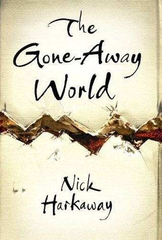 Book cover: The Gone-Away World - Nick Harkaway (cream background with a jagged crack zigzagging across it)