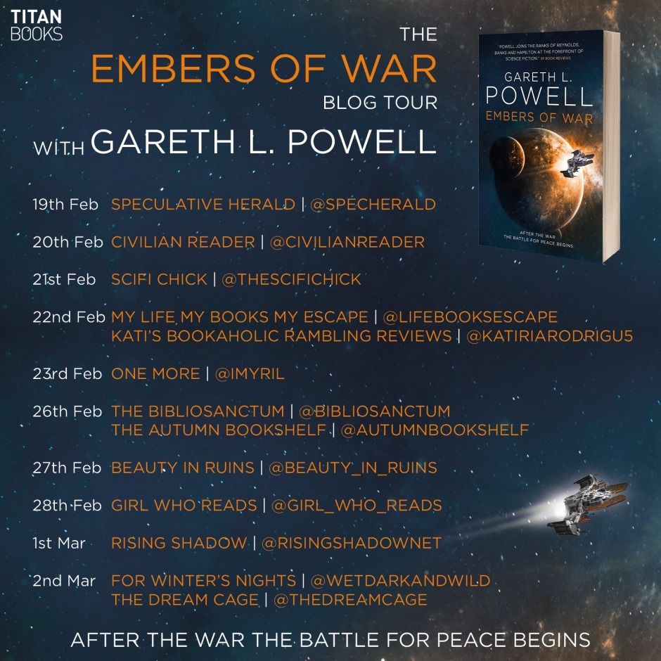 The Embers of War blog tour with Gareth L Powell (Titan Books)
