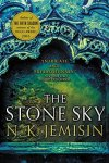 Book cover: The Stone Sky - N K Jemisin (a green archway)