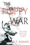 Book cover: The Poppy War - R F Kuang (spectacularly gorgeous black and white illustration of an archer)