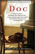 Book cover: Doc - Mary Doria Russell (a hat on a chair)