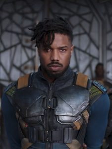 Film still: Killmonger from Black Panther