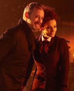 Doctor Who still: the Master and the Mistress together