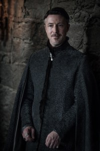 Still from Game of Thrones: Aiden Gillen as Petyr Baelish at Winterfell