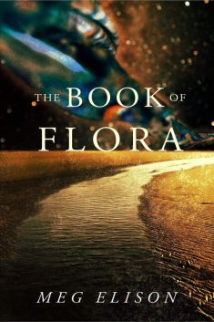 Book cover: The Book of Flora - Meg Elison a road curving away towards the horizon, bright colours in the sky
