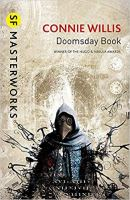 Book cover: Doomsday Book - Connie Willis (illustration: a figure in a plague mask)