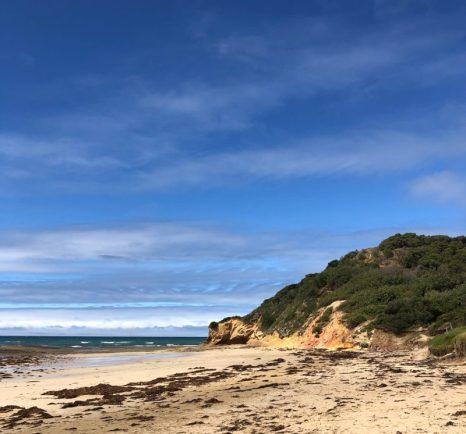 Pale sands and crumbling cliffs - Victorian coastline, Australia