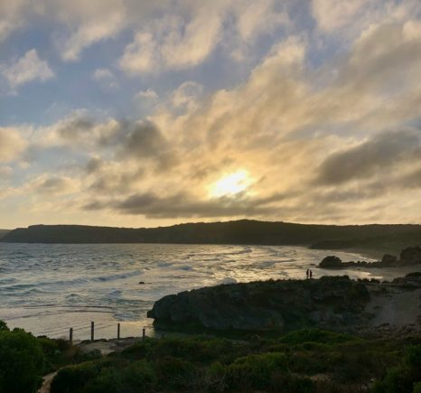 A cloudy sunset over Pennington Bay
