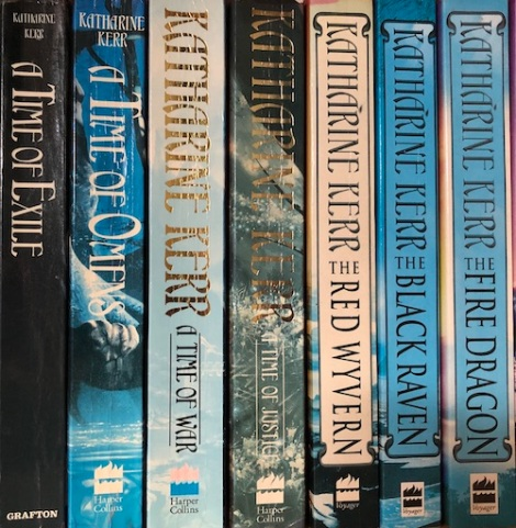 Book spines: Deverry saga