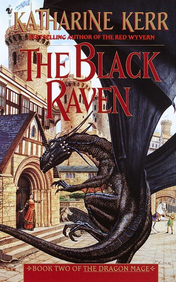 Book cover: The Black Raven - Katharine Kerr (US edition)